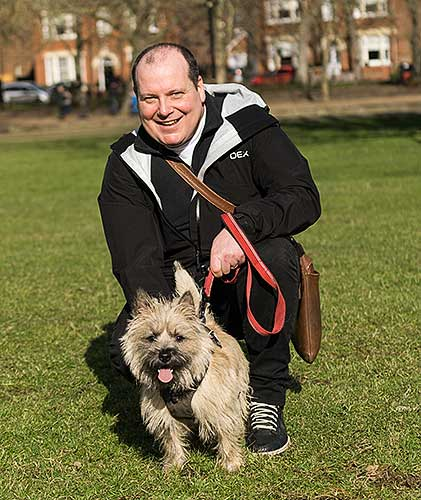 Bedford Dog Walker with Angus
